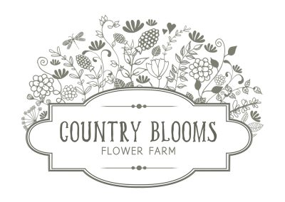 Country Blooms Flower Farm | New Zealand Logo Design