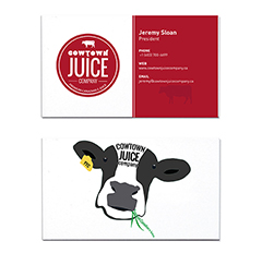 Cowtown Juice Company Business Card Designer Calgary