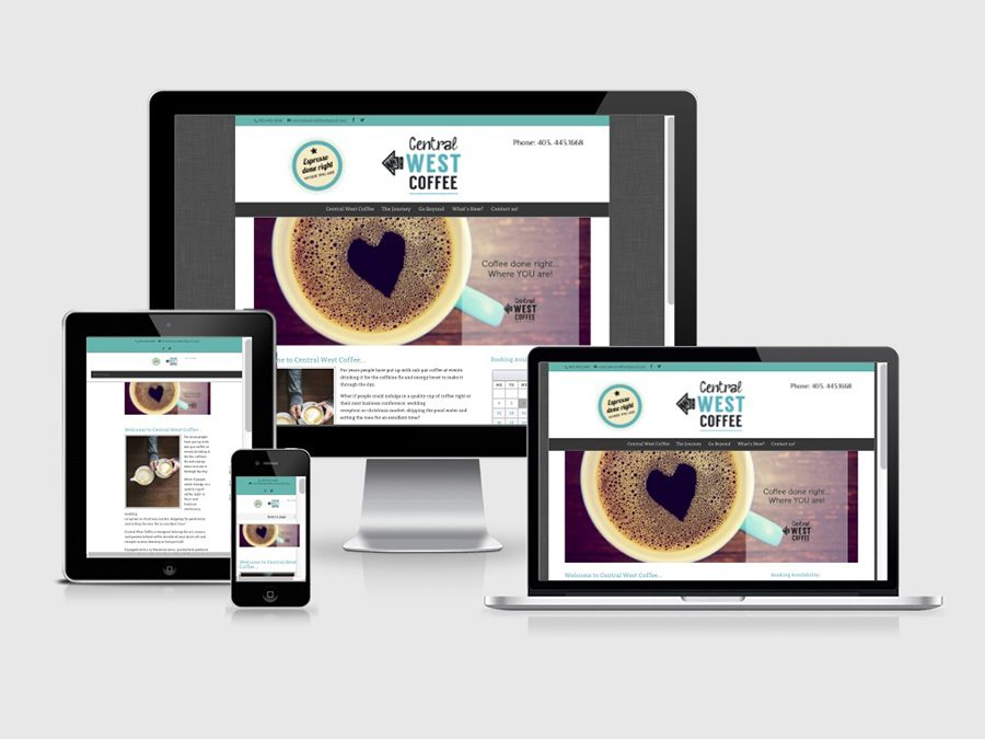 WordPress Website Design for Central West Coffee in Calgary!