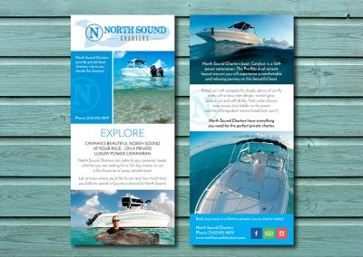 Boat Charter Brochure Design | Cayman Islands